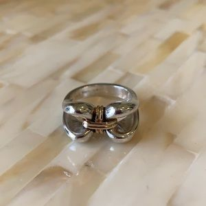 Jewelry - 14k Gold And Sterling Silver Ring Size 6 1…